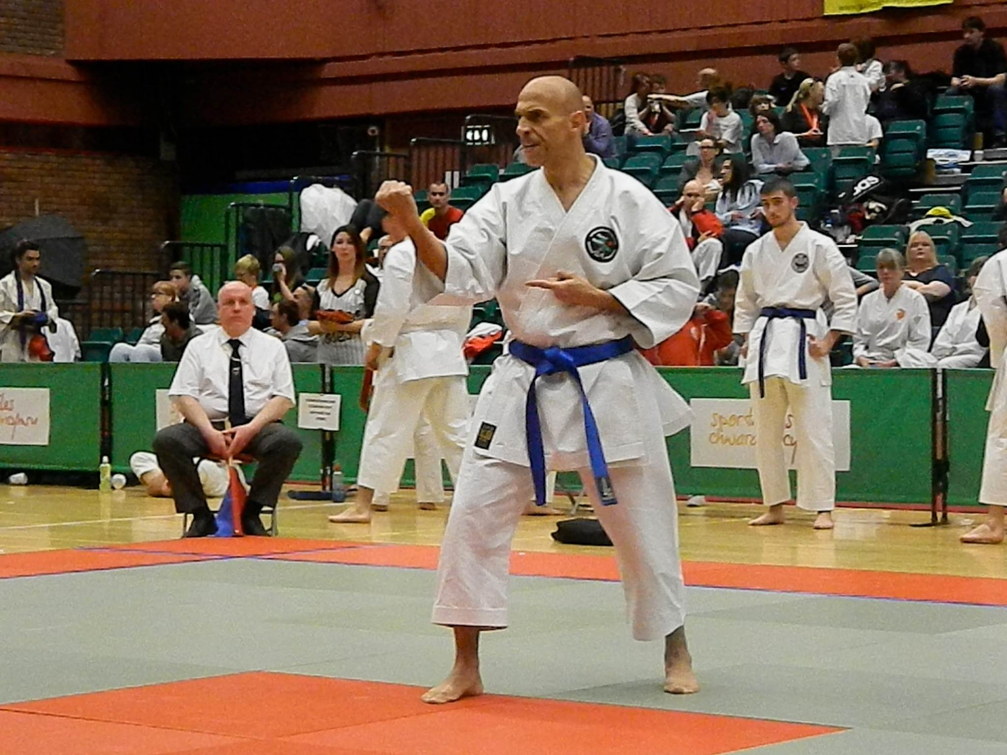 Andrew Kanias was once again on top form to win Mens Kata