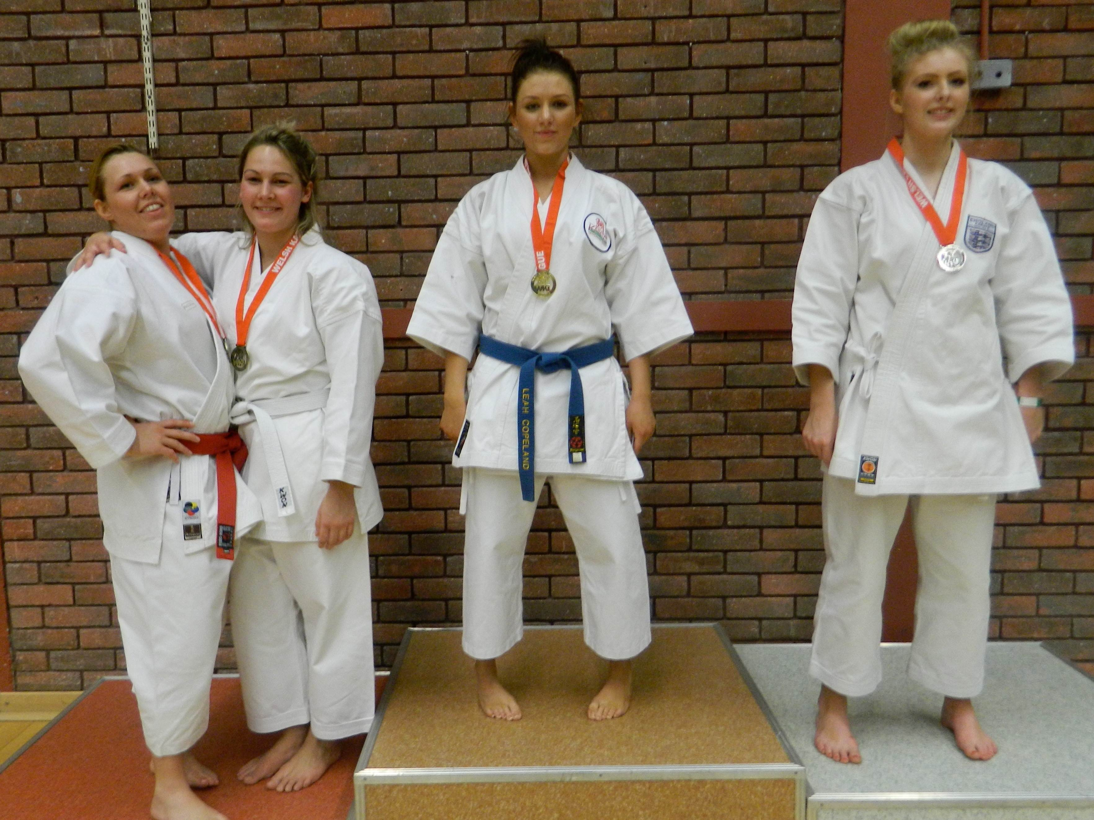 Leah Copeland wins Ladies Kata sharing the podium with her English rivals
